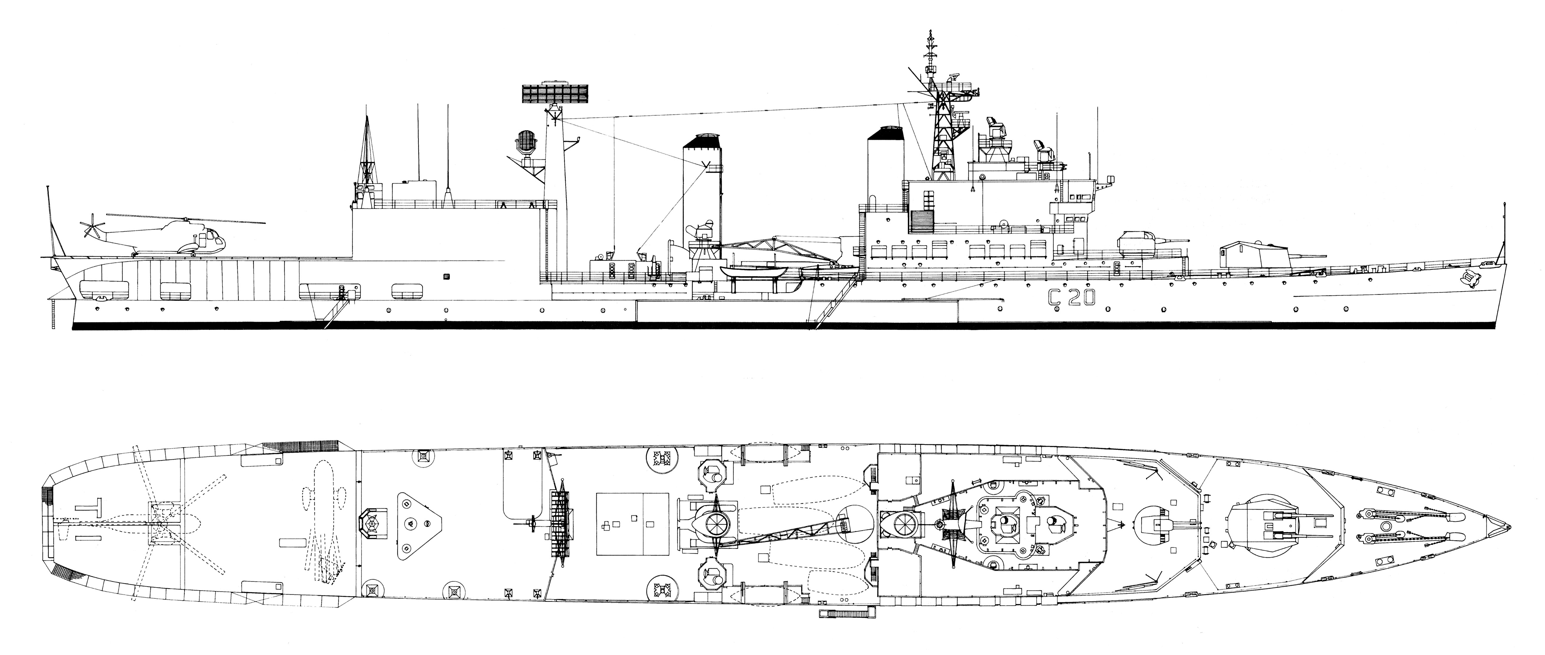 zz Tiger in 1972 as helicopter carrier [A.D.Baker III].jpg